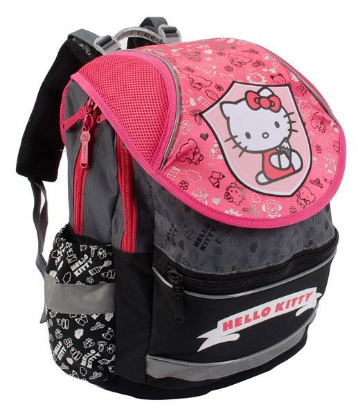 Školní batoh PLUS - Hello Kitty - šedá