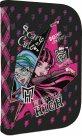 Školní penál - 1 patrový s chlopní - Monster High - růžová