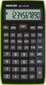 Kalkulačka Sencor SEC 105 GN - černozelená