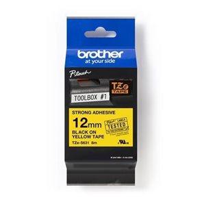 Páska Brother 12 mm × 8 m, žlutá-černá