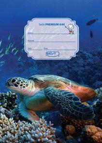 SEVT Sešit Premium 644, A6 40 l. linkovaný 8 mm