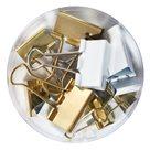 Herlitz Klip binder 12 ks, 3 velikosti Pure Glam - barva bílá a zlatá
