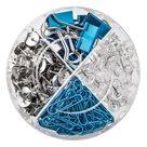Herlitz Box kancelářských potřeb 4v1 Frozen Glam - barva modrá a stříbrná