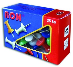 RON Připínáčky 25 ks - mix barev