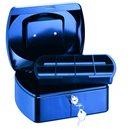 RON Kovová pokladna 15,5 × 12 × 8 cm - modrá