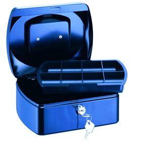 RON Kovová pokladna 15,5x12x8 cm - modrá