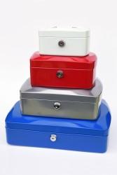RON Kovová pokladna 20,5x16x8,5 cm - červená