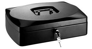 RON Kovová pokladna 33 × 23,5 × 9 cm - černá