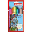STABILO Pen 68 Vláknový fix - sada 12 barev