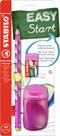STABILO EASYgraph školní set L pro leváky - růžová (tužka HB, ořezávátko, pryž)