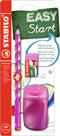 STABILO EASYgraph školní set P pro praváky - růžová (tužka HB, ořezávátko, pryž)