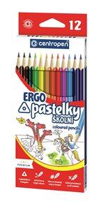 Centropen Školní pastelky trojhranné - sada 12 barev
