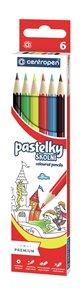 Centropen Školní pastelky - sada 6 barev
