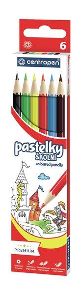 Centropen Školní pastelky - sada 6 barev, Sleva 20%
