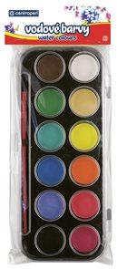 Centropen Vodové barvy 30 mm - 12 barev