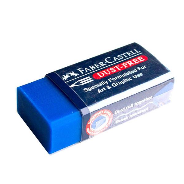 Stěrací pryž Faber-Castell DUST-FREE - modrá