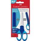 Školní nůžky Faber-Castell Grip na blistru - modrá