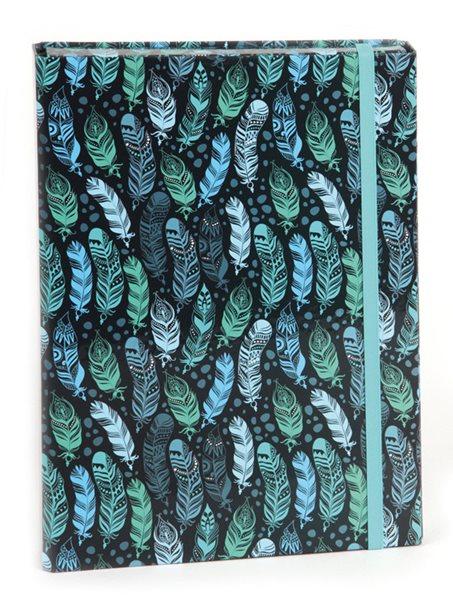 Box na sešity A5 s klopou Stil - Indian Blue