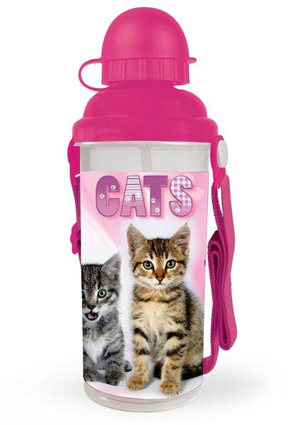 Karton PP Láhev na pití 650ml - Kočka