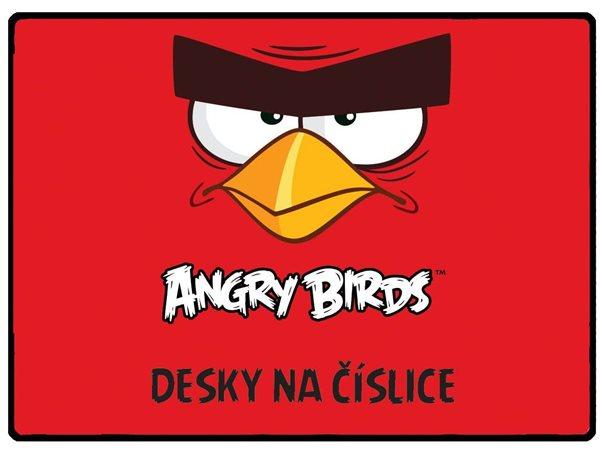 Karton PP Desky na číslice - Angry birds