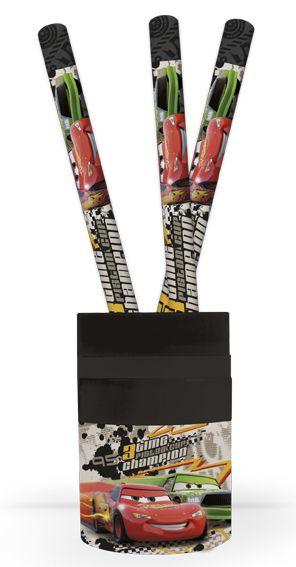 Karton PP Kelímek na tužky + výbava - Cars