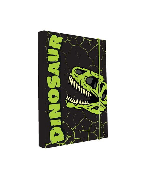 Karton PP Desky na sešity s boxem A4 - Dinosaurus 2016