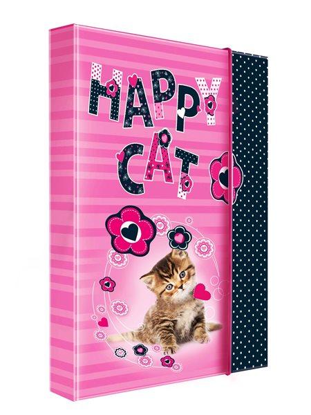 Karton PP Desky na sešity s boxem A4 - Happy Cats