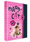 Karton PP Desky na sešity s boxem A5 JUMBO - Happy Cats