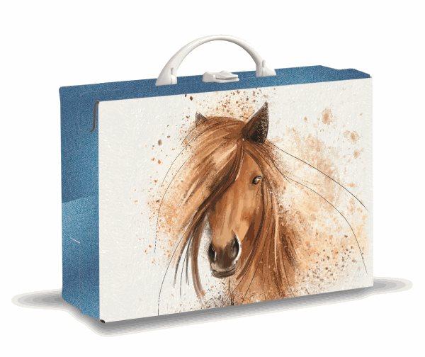 """Karton PP Dětský kufřík 35"""" hranatý - Kůň"""