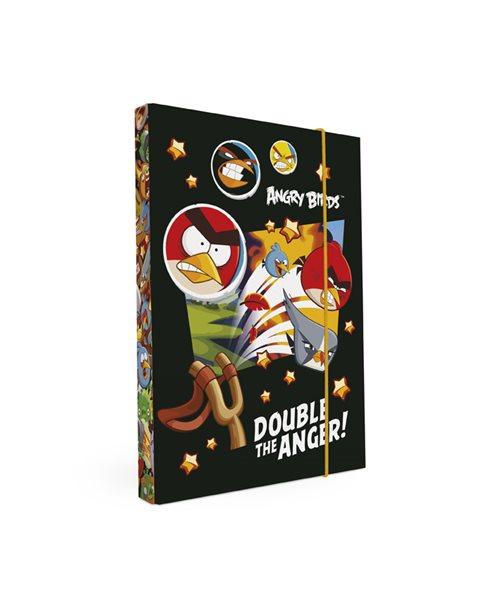 Karton PP Desky na sešity s boxem A5 - Angry Birds