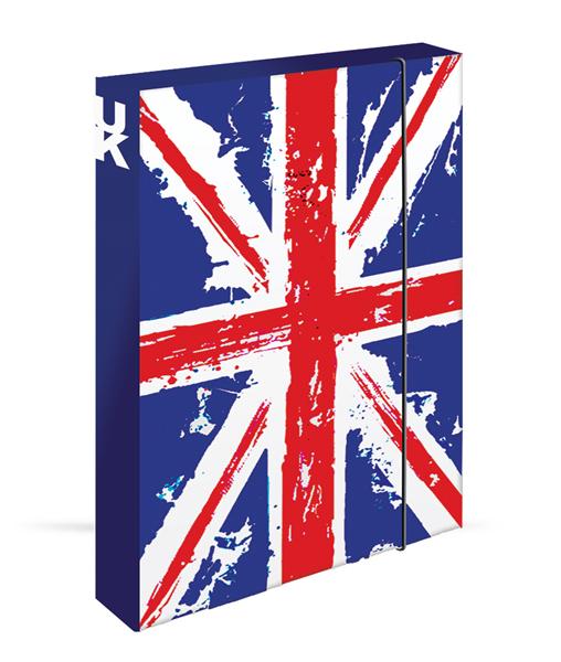 Karton PP Desky na sešity s boxem A4 JUMBO - UK