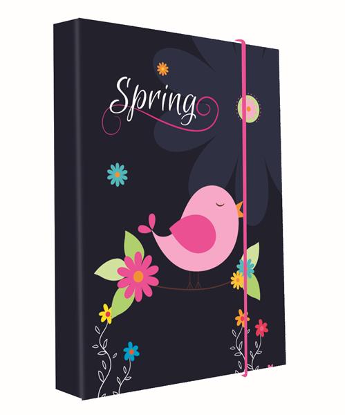 Karton PP Desky na sešity s boxem A5 - Spring