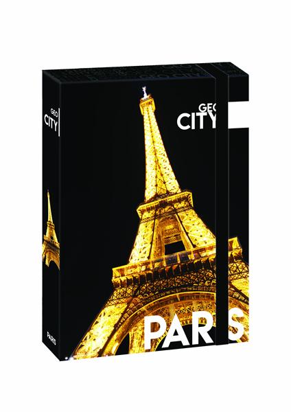 Karton PP Desky s boxem A4 JUMBO - Paříž