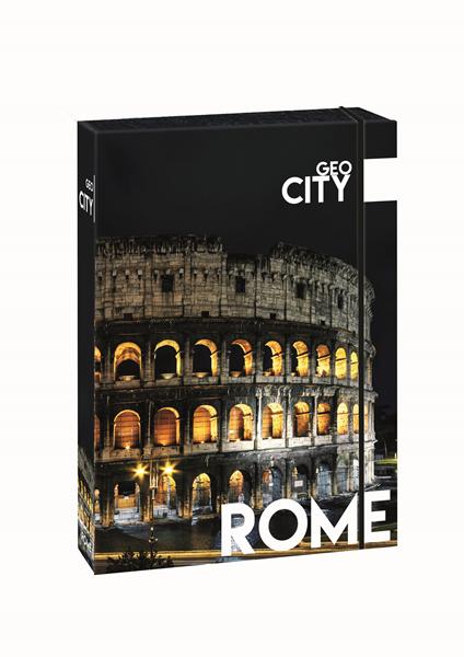 Karton PP Desky s boxem A4 JUMBO - Řím