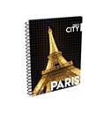 Karton PP Kroužkový blok A6 - Paříž