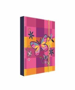Desky na sešity s boxem A5 - Motýl