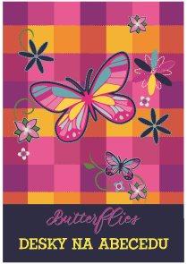 Desky na abecedu - Motýl