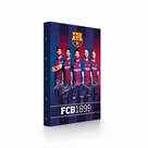 Desky na sešity s boxem A4 - FC Barcelona