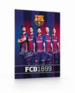 Desky s gumou A4 PP 3 klopy - FC Barcelona