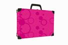 Kufřík lamino hranatý okovaný - NEO COLORI růžová