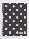 Kroužkový blok A4 - Romantic Nature Dots silver