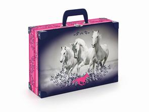 Kufřík lamino hranatý okovaný - Kůň 2019