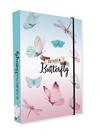 Desky na sešity s boxem A4 - Rainbow Butterfly / Motýl