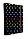 Desky na sešity s boxem A5 Jumbo - Dots colors