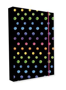 Desky na sešity s boxem A4 Jumbo - Dots colors