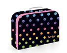 Dětský kufřík lamino 34 cm - Dots colors