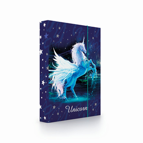 Desky na sešity s boxem A4 Jumbo - Unicorn/Jednorožec