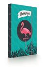 Desky na sešity s boxem A4 - Flamingo