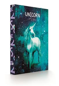 Desky na sešity s boxem A5 - Unicorn/Jednorožec 2020