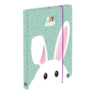 Desky na sešity s boxem A4 Jumbo - Oxy Bunny